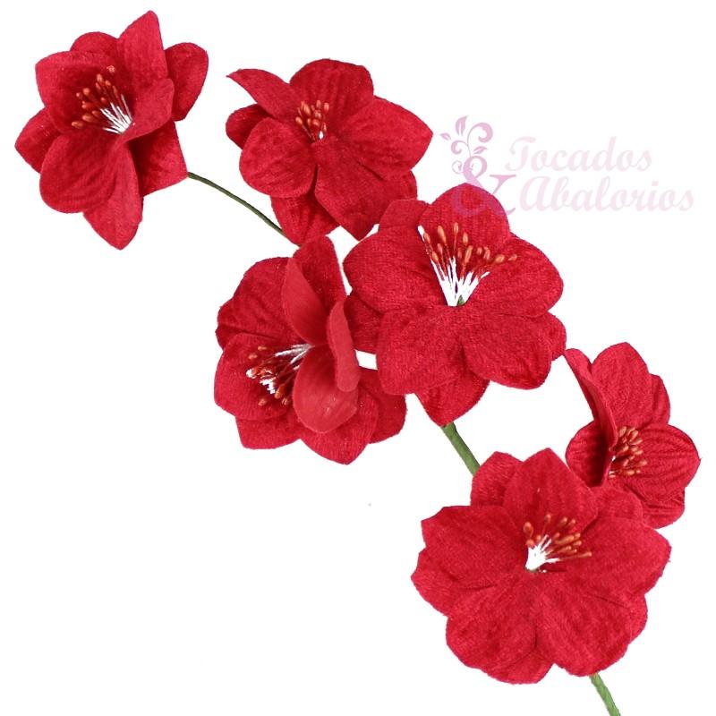 Ramillete 6 flores terciopelo