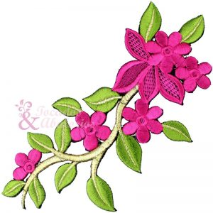 Rama Flor bordada
