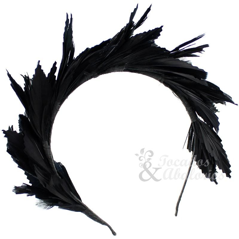 Tiara de plumas Susan