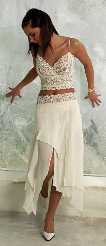 traje novia guipur