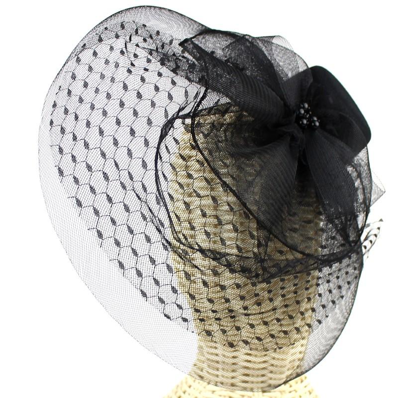 Tocado sombrero perlas