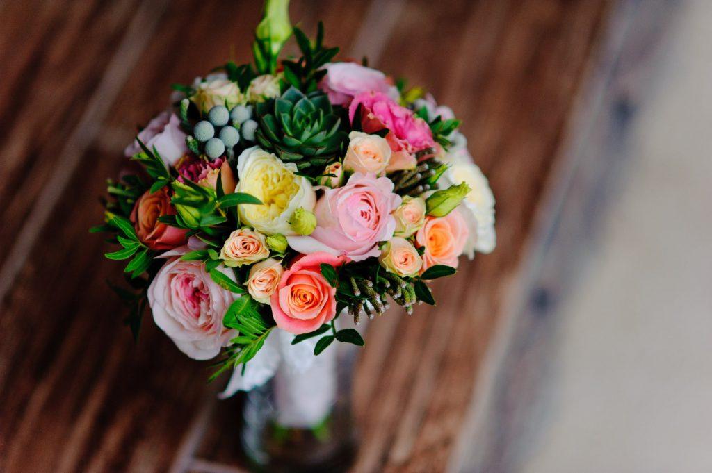Flores preservadas de colores