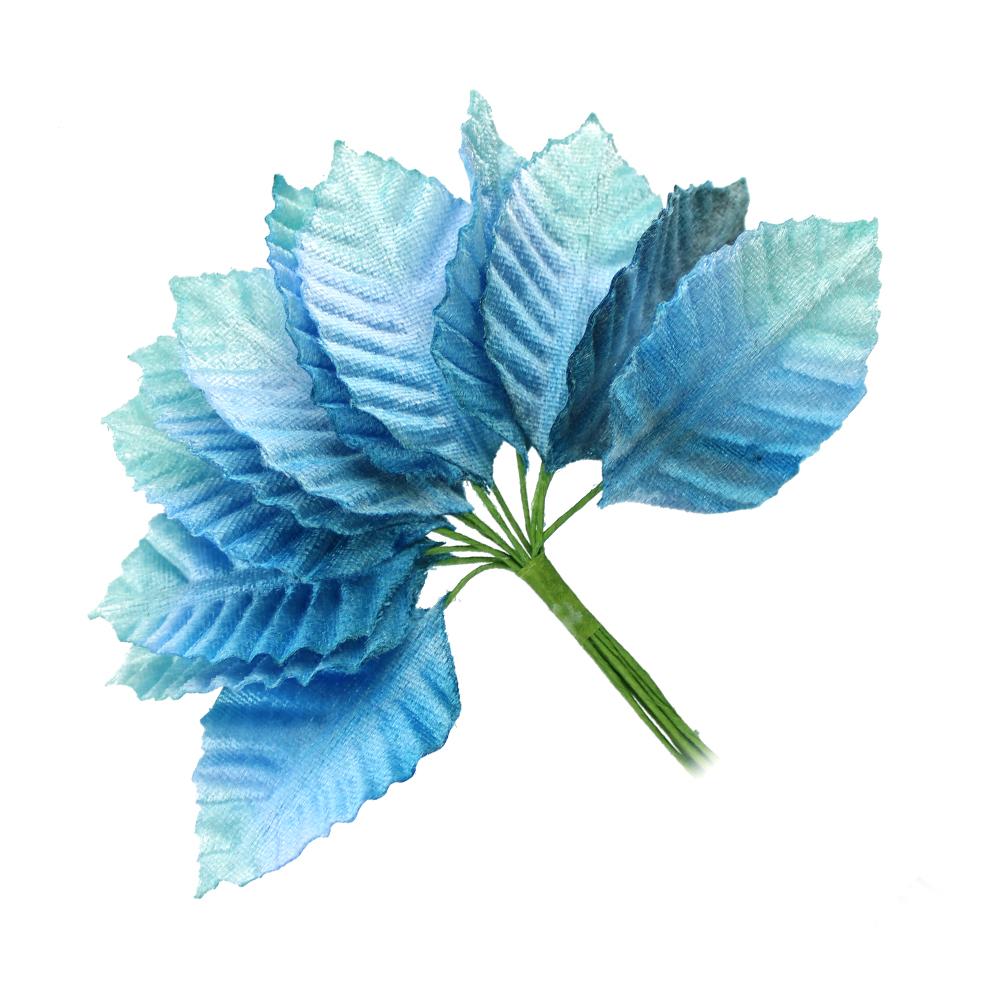 12 HOJAS TALLÍN tonos azules
