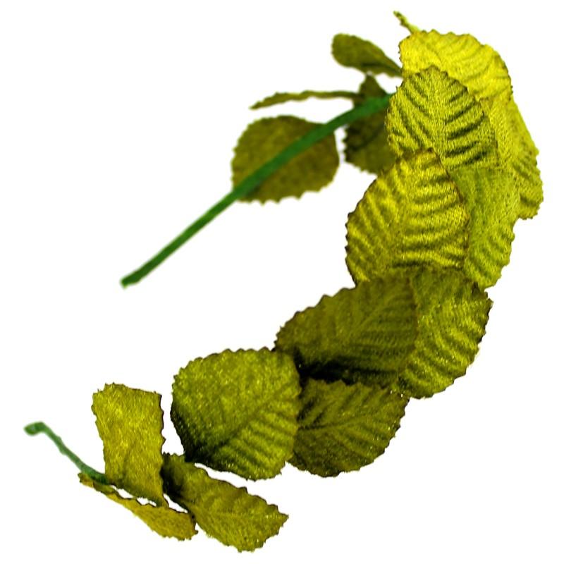 Diadema hojas de terciopelo