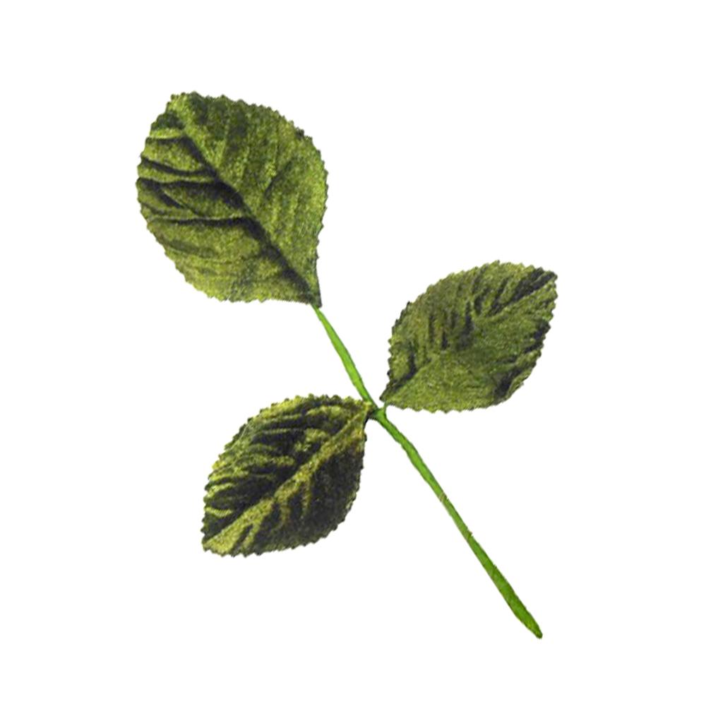 3 Hojas terciopelo 14X9 CM verde