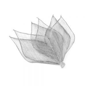 6 hojas sinamay 16×6 cm gris