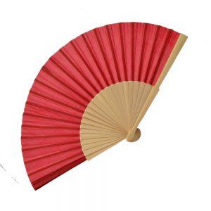 Abanico Madera 23cm rojo