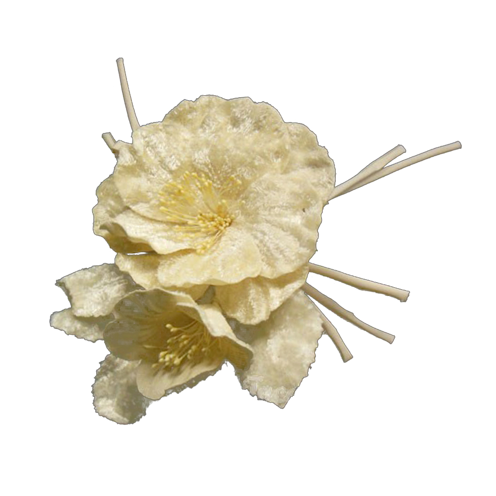 Amapola de terciopelo 17×12 cm crudo