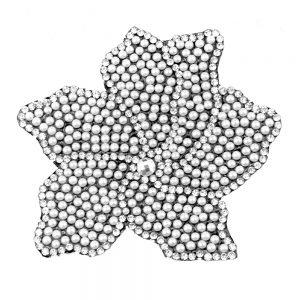 Aplicación Flor Termoadhesiva plata