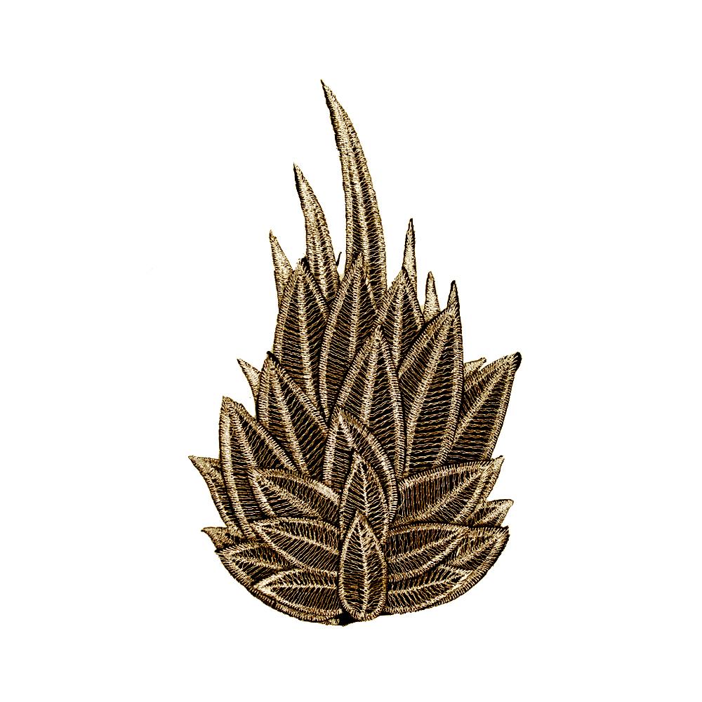 Aplicación Llama Hojal bronce