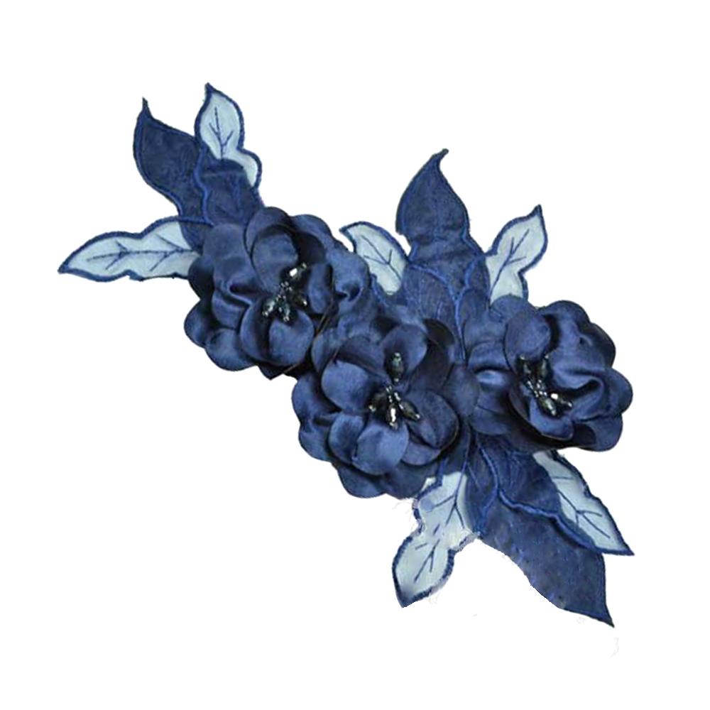 Aplicación Triple flor XL azul marino