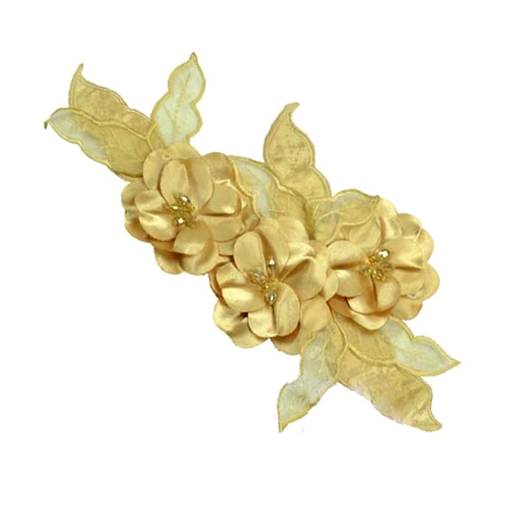 Aplicación Triple flor XL beige