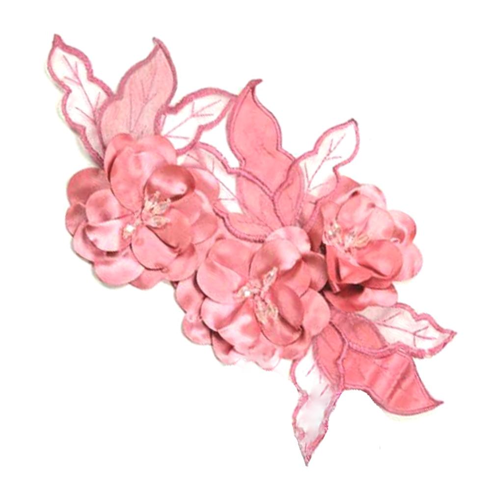 Aplicación Triple flor XL gris rosa maquillaje