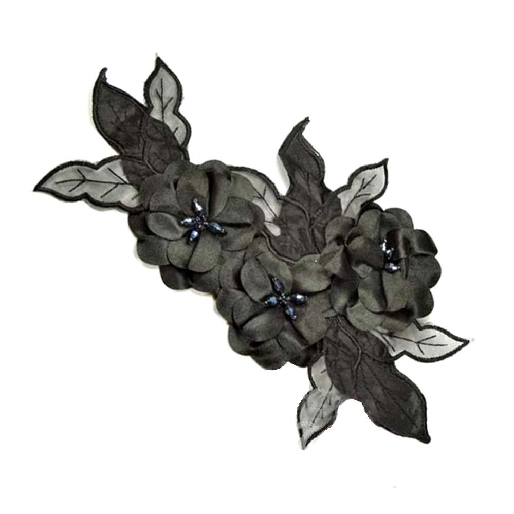 Aplicación Triple flor XL negro