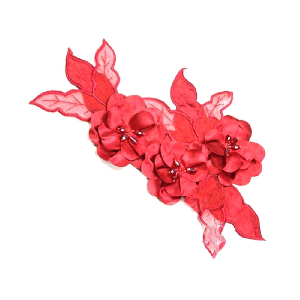 Aplicación Triple flor XL rojo