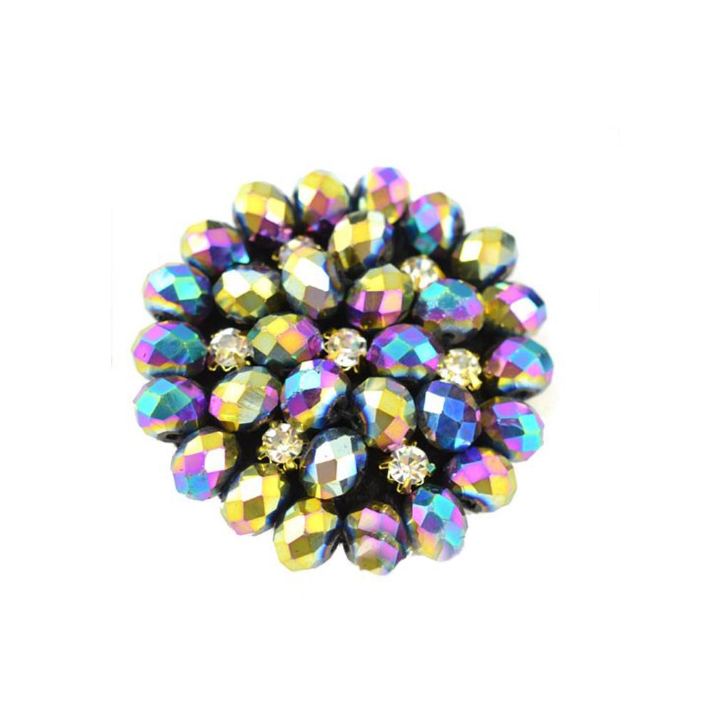 Aplicación circular 4 cm multicolor