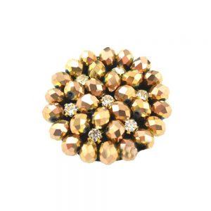Aplicación circular 4 cm oro