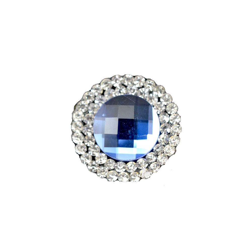 Aplicación circular de cristal 2 ud azul