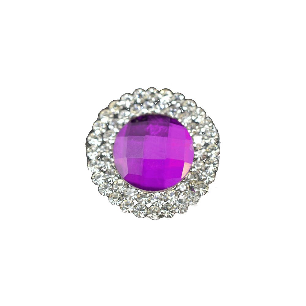 Aplicación circular de cristal 2 ud morado