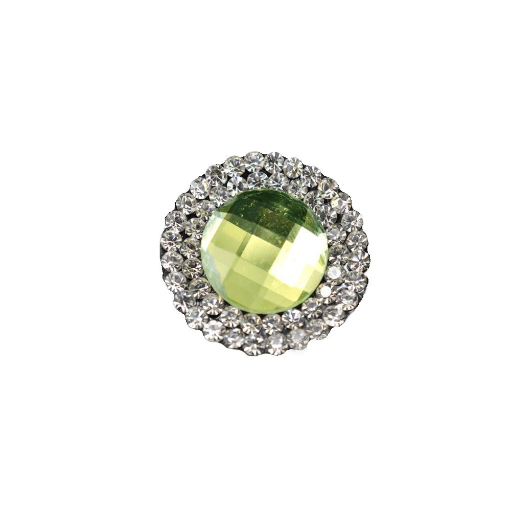 Aplicación circular de cristal 2 ud verde