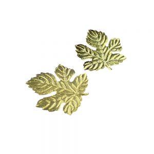 Aplicación de latón hojas de parra 2 unidades