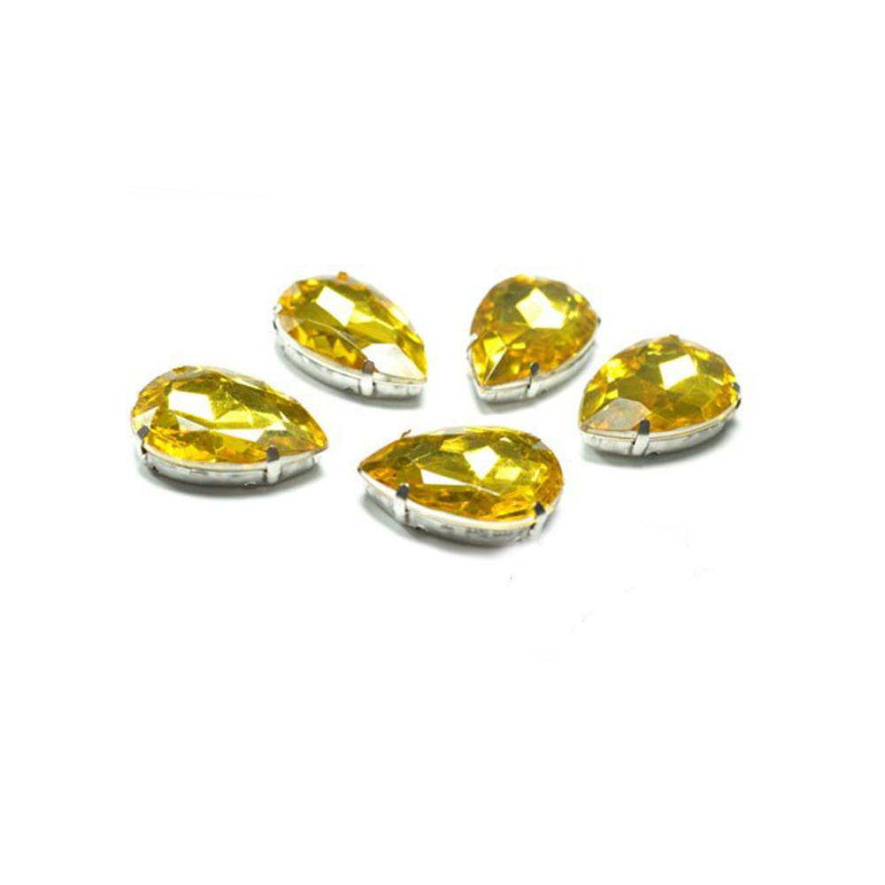 Aplicación lágrima 18×25 mm dorado