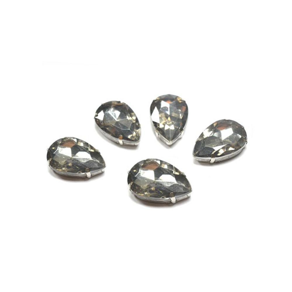 Aplicación lágrima 18×25 mm gris