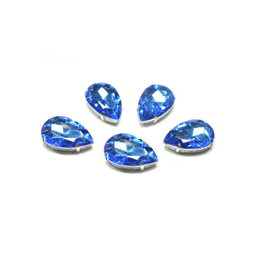 Aplicación lágrima 20×30 mm azul azafata