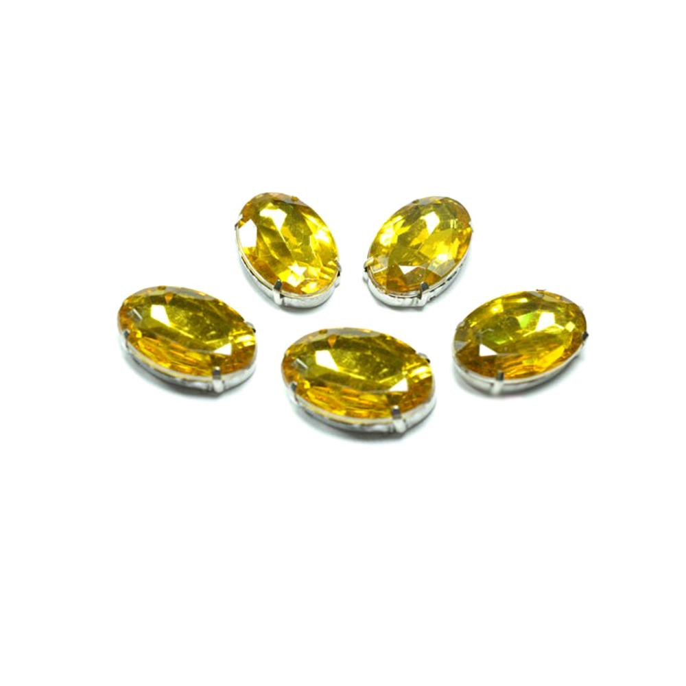 Aplicación oval 18x25mm dorado