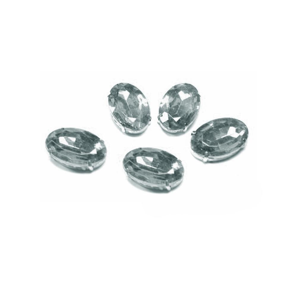 Aplicación oval 18x25mm plata