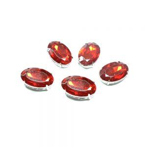 Aplicación oval 18x25mm rojo