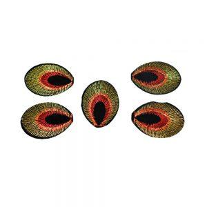 Aplicación oval bordada termoadhesiva rojo