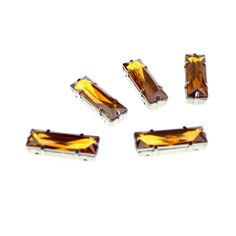 Aplicación rectangular 10×30 mm dorado