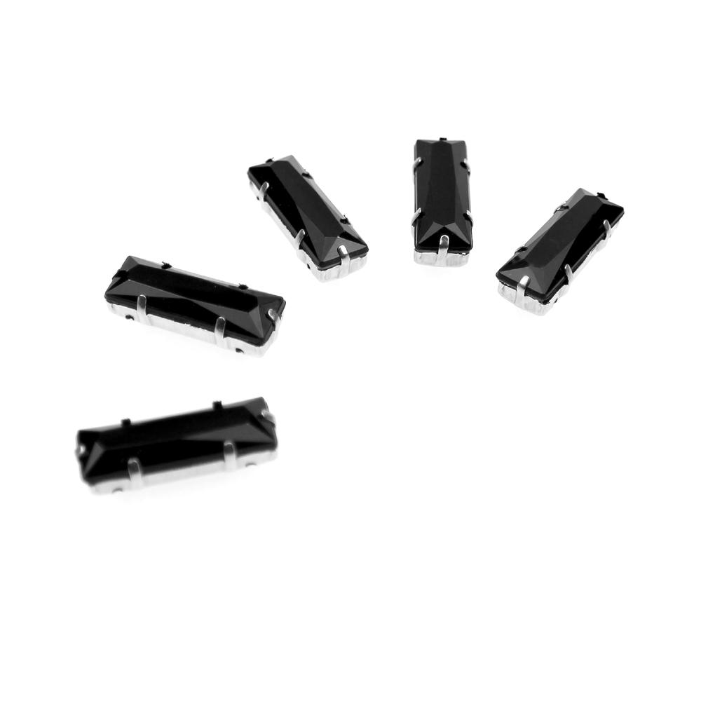 Aplicación rectangular 10×30 mm negro