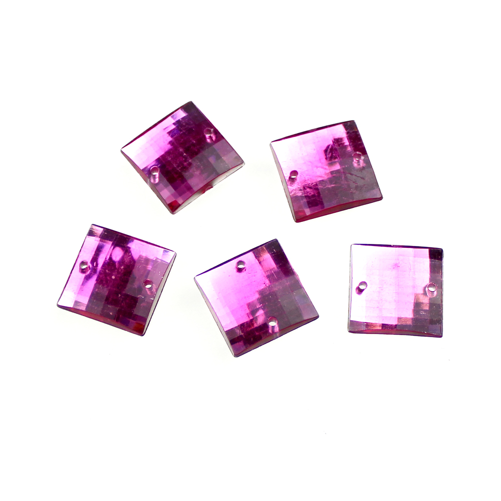 Aplicacion cuadrada acrilica fucsia