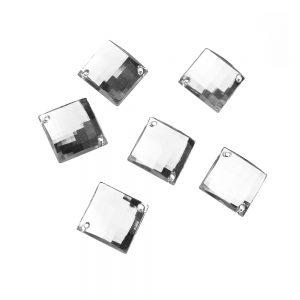 Aplicacion cuadrada acrilica transparente