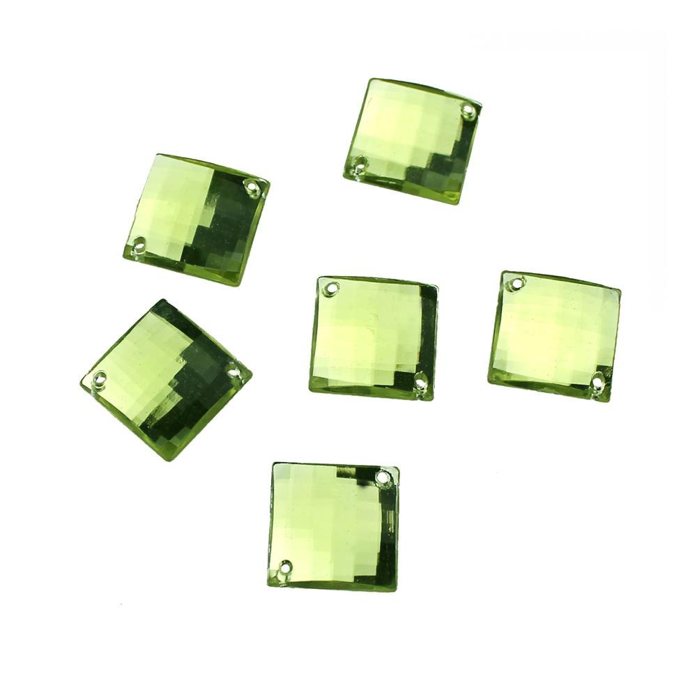 Aplicacion cuadrada acrilica verde claro