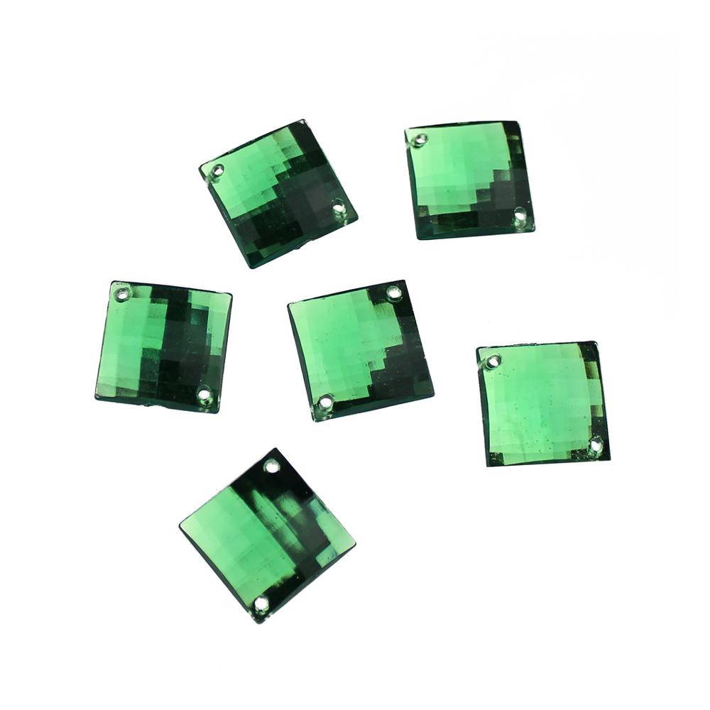 Aplicacion cuadrada acrilica verde topacio