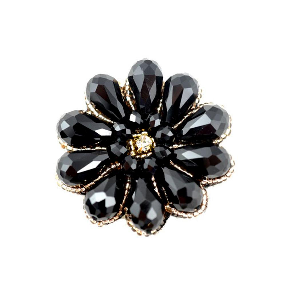 Aplicacion flor de cristal negro