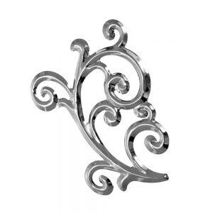 Aplique barroco latón plata