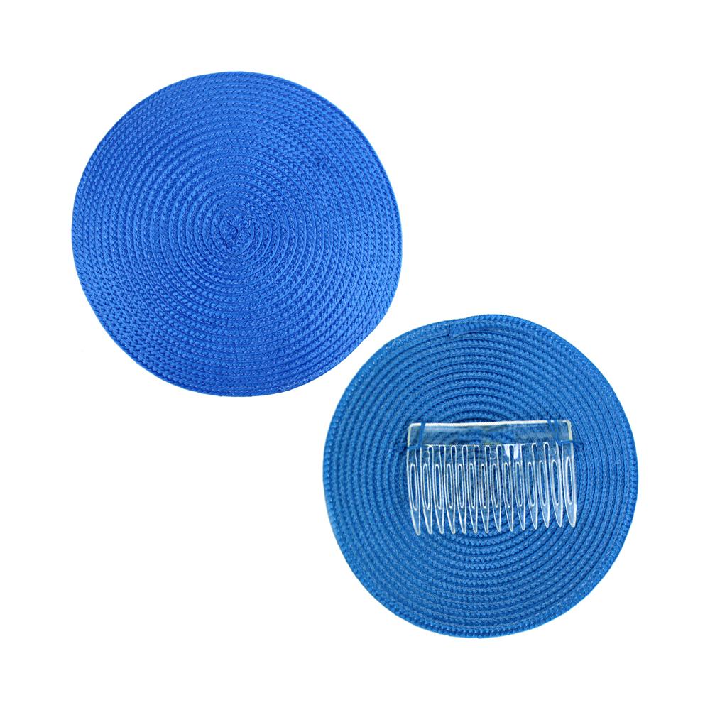 Base 14 cm polipropileno con peina azul klein
