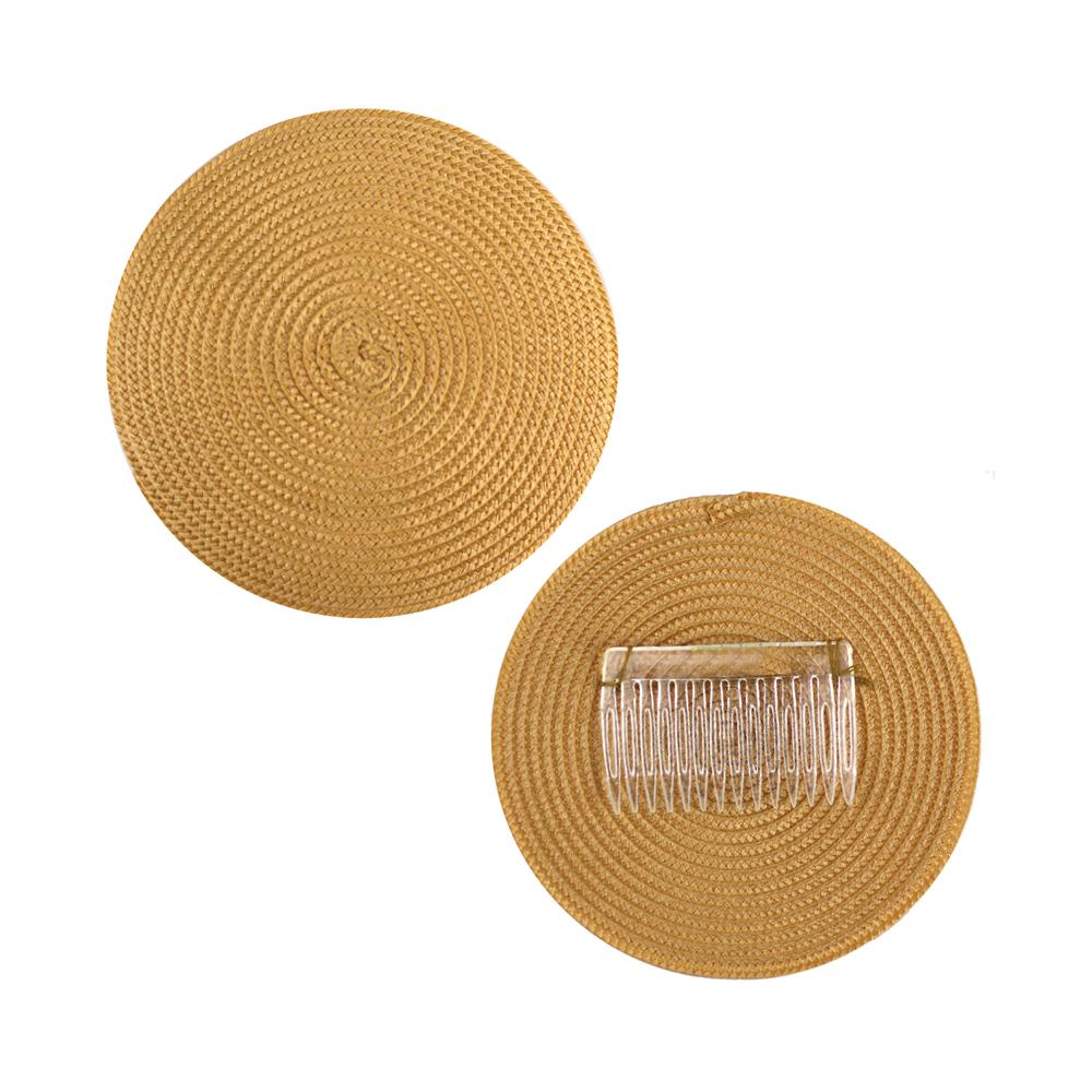 Base 14 cm polipropileno con peina dorado