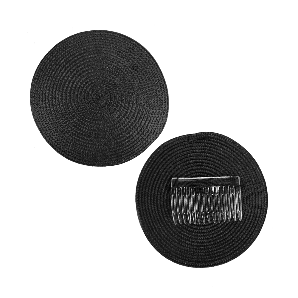 Base 14 cm polipropileno con peina negro