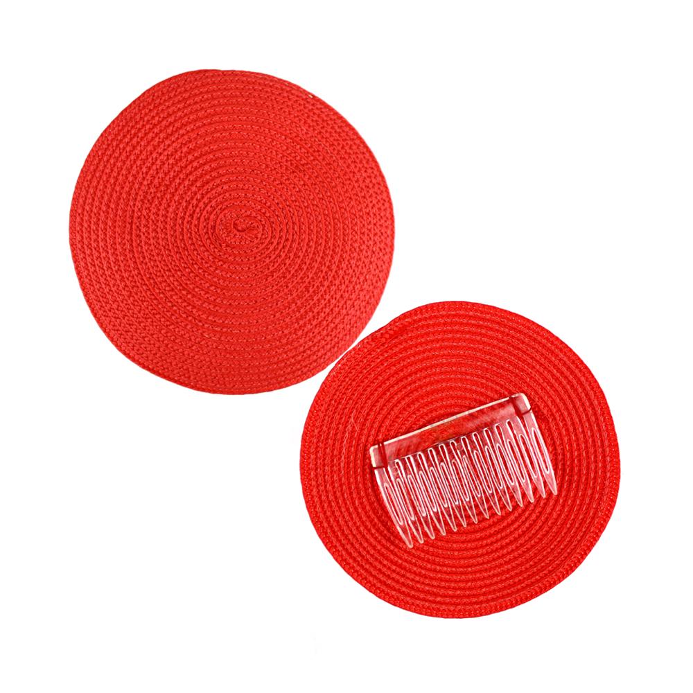 Base 14 cm polipropileno con peina rojo