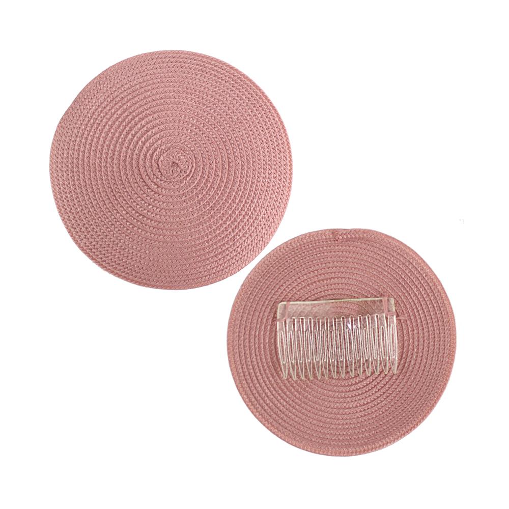 Base 14 cm polipropileno con peina rosa mude oscuro