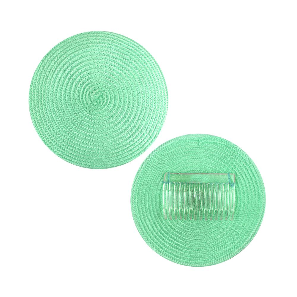 Base 14 cm polipropileno con peina verde menta