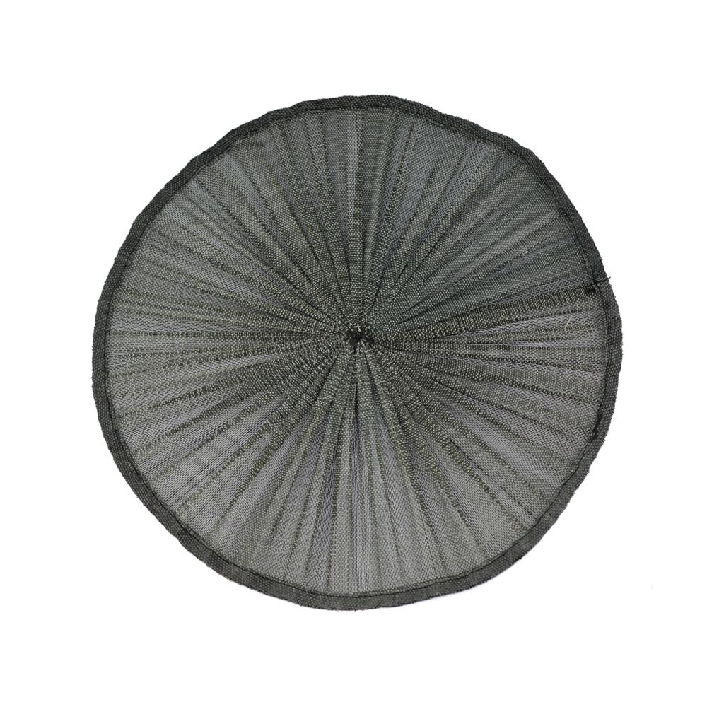 Base Sinamay seda plisada 32 CM negro