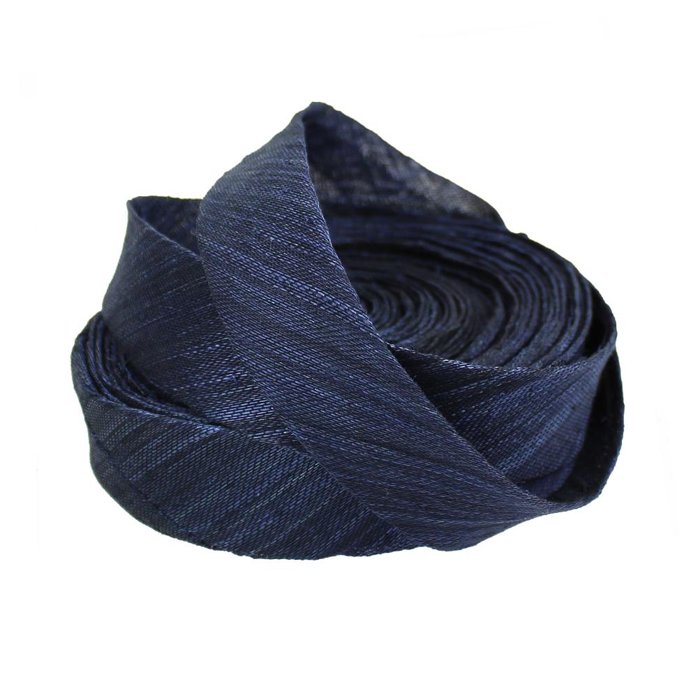 Bies sinamay seda 3 cm azul marino