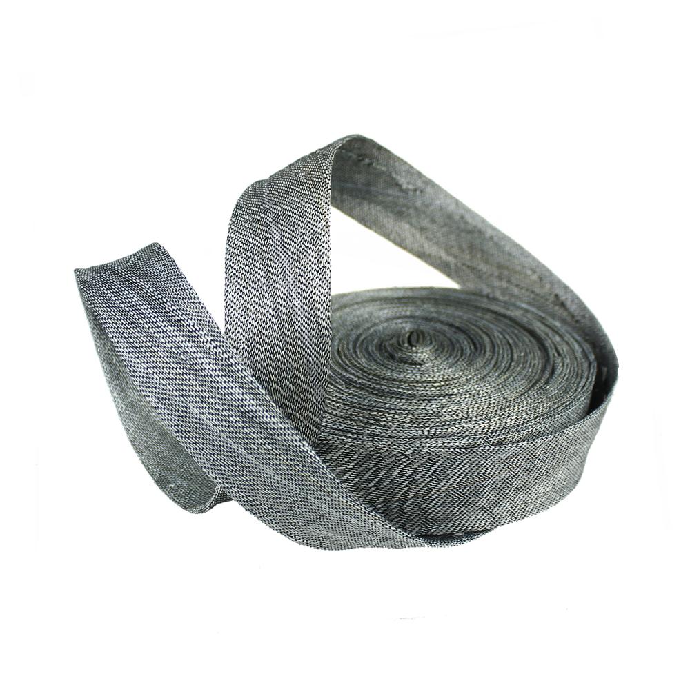 Bies sinamay seda 3 cm gris plata