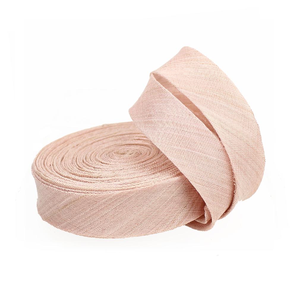 Bies sinamay seda 3 cm rosa nude